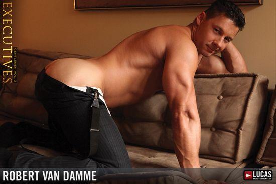 Logan Stevens Rides Businessman Robert Van Damme's Cock