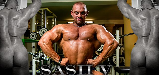 Sash V in Muscle Show Off