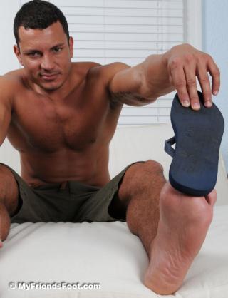 Angelo Marconi's Wide Size 11 Bare Feet & Flip-Flops