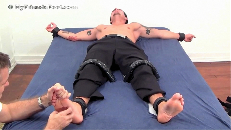 Extremely Ticklish Laurent Tickled While Bound