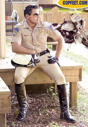 Cop Feet Office Marcus Baker