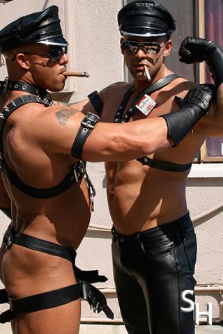 Smoking Hunks Big Roger and Peter Latz