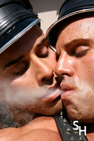 Smoking Hunks Big Roger and Peter Latz