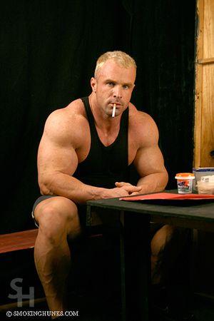 Constantinos Demetriou with Cigarettes