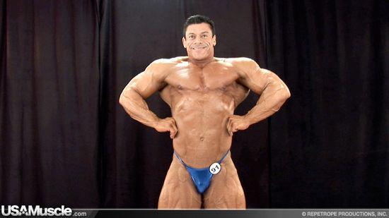 George Medrano - 2012 NPC Nationals Men's Bodybuilding Backstage Posing Part 2