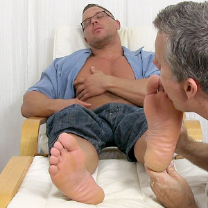 Richie's Dress Socks & Bare Feet Worshiped