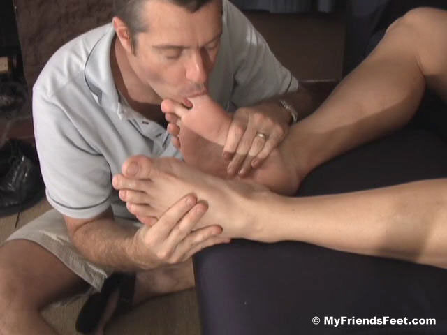 Porn Star Ace Hanson Gets Off During Foot Worship