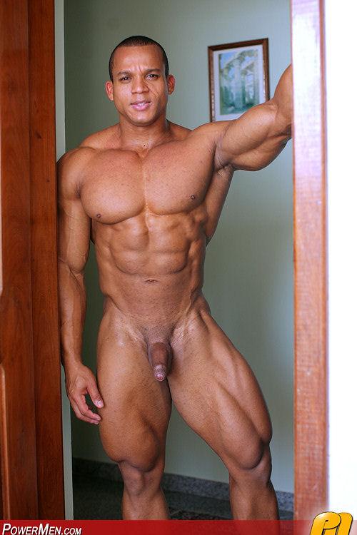 Naked asian musle