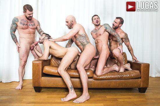 LVP208 Rocco Steele, Alejandro Alvarez, Drew Sebastian, Dolf Dietrich and Pedro Andreas