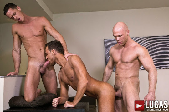 Marco Milan, Logan Moore, and Ivan Gregory Suck and Fuck Raw