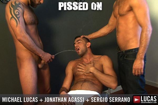 Michael Lucas, Jonathan Agassi and Sergi Serrano