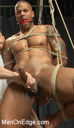 Muscle hunk gets a four hand massage with happy and unhappy endings