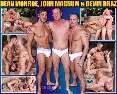 Dean Monroe, John Magnum & Devin Draz