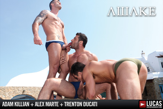 Alex Marte, Adam Killian and Trenton Ducati
