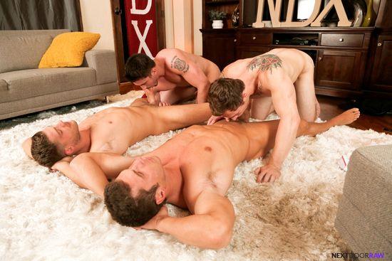 Derrick Dime, Bridger Watts, Rod Peterson, Markie More in Becumming Brothers_04