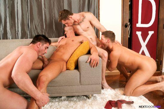 Derrick Dime, Bridger Watts, Rod Peterson, Markie More in Becumming Brothers_06