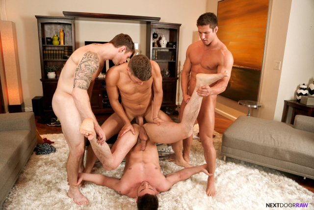 Derrick Dime, Bridger Watts, Rod Peterson, Markie More in Becumming Brothers_14