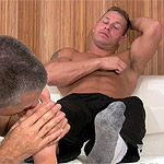 03 Staff Sergeant Tristan Has His Socks and Feet Worshiped