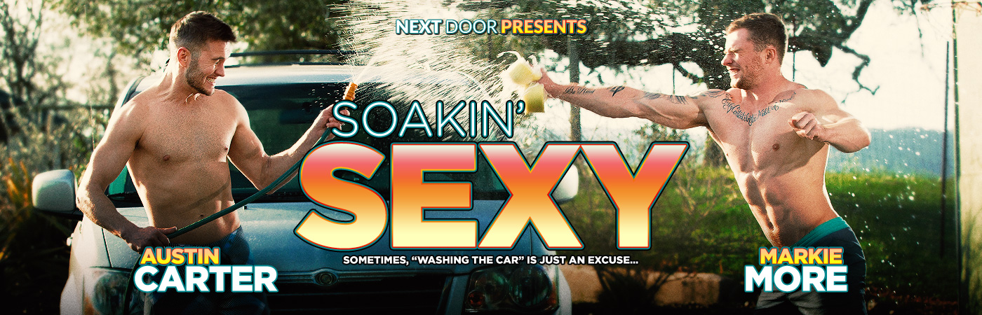 Markie More and Austin Carter in Soakin' Sexy