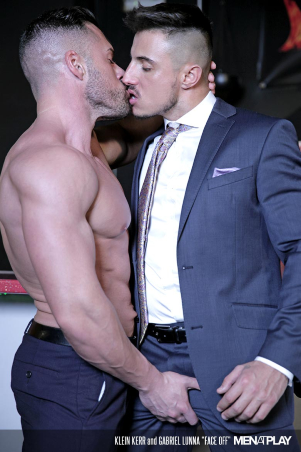 men at play face off starring gabriel lunna and klein