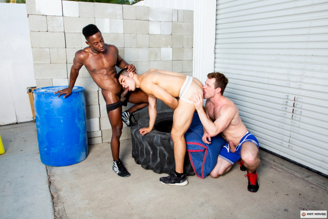 Hit The Mat, Scene 2 Featuring Cazden Hunter, Kurtis Wolfe, and Liam Cyber (98627_08)