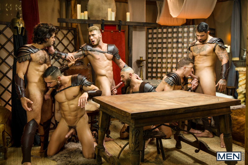 Sacred Band Of Thebes Part 4 Featuring D.O., Diego Sans, Francois Sagat, JJ Knight, Ryan Bones, William Seed (0009)