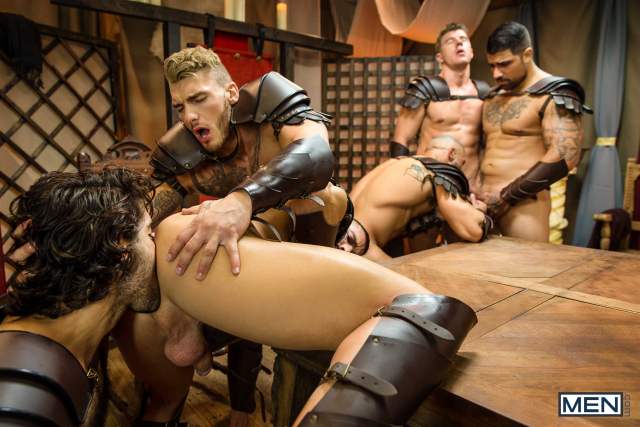 Sacred Band Of Thebes Part 4 Featuring D.O., Diego Sans, Francois Sagat, JJ Knight, Ryan Bones, William Seed (0012)