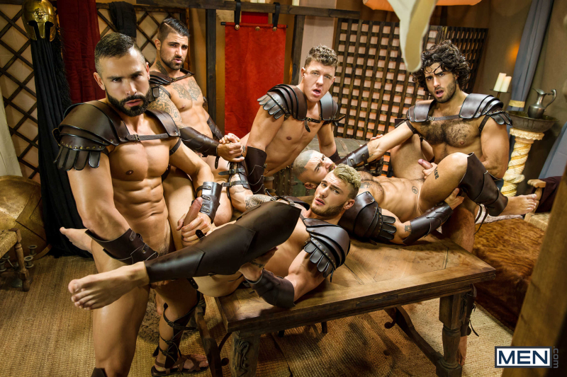 Sacred Band Of Thebes Part 4 Featuring D.O., Diego Sans, Francois Sagat, JJ Knight, Ryan Bones, William Seed (0017)