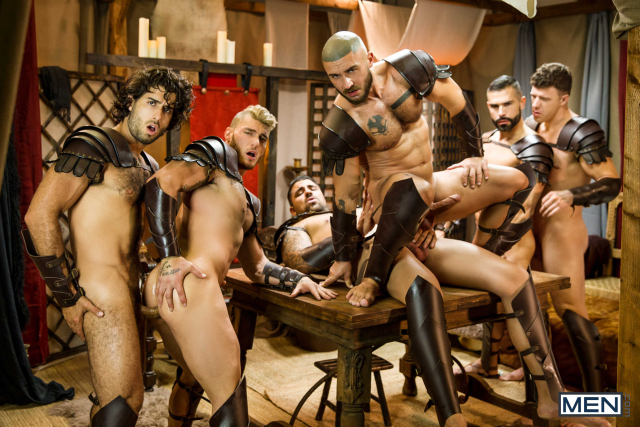 Sacred Band Of Thebes Part 4 Featuring D.O., Diego Sans, Francois Sagat, JJ Knight, Ryan Bones, William Seed (0018)