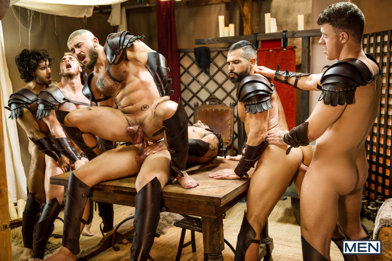 Sacred Band Of Thebes Part 4 Featuring D.O., Diego Sans, Francois Sagat, JJ Knight, Ryan Bones, William Seed (0019)