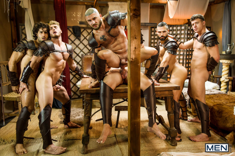 Sacred Band Of Thebes Part 4 Featuring D.O., Diego Sans, Francois Sagat, JJ Knight, Ryan Bones, William Seed (0020)