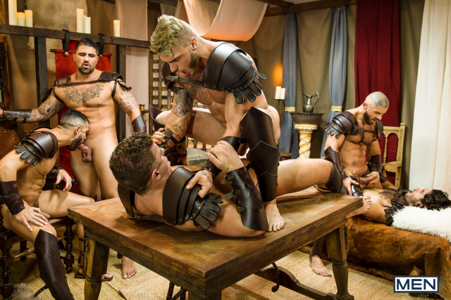 Sacred Band Of Thebes Part 4 Featuring D.O., Diego Sans, Francois Sagat, JJ Knight, Ryan Bones, William Seed (0023)