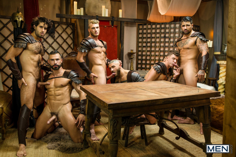 Sacred Band Of Thebes Part 4 Featuring D.O., Diego Sans, Francois Sagat, JJ Knight, Ryan Bones, William Seed (0010)