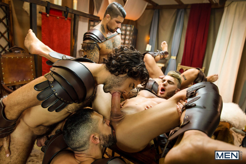 Sacred Band Of Thebes Part 4 Featuring D.O., Diego Sans, Francois Sagat, JJ Knight, Ryan Bones, William Seed (0014)