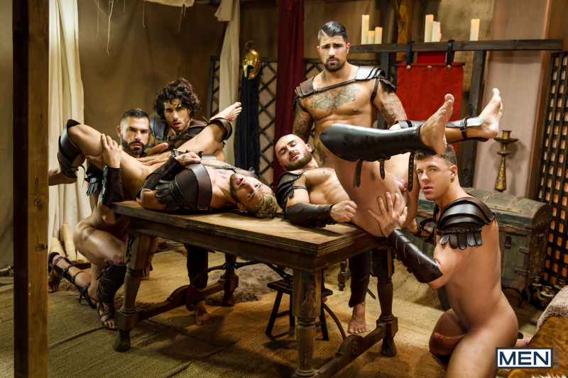 Sacred Band Of Thebes Part 4 Featuring D.O., Diego Sans, Francois Sagat, JJ Knight, Ryan Bones, William Seed (0015)