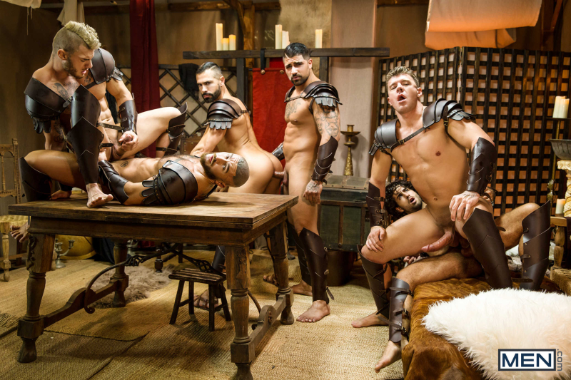 Sacred Band Of Thebes Part 4 Featuring D.O., Diego Sans, Francois Sagat, JJ Knight, Ryan Bones, William Seed (0021)