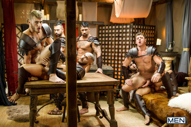 Sacred Band Of Thebes Part 4 Featuring D.O., Diego Sans, Francois Sagat, JJ Knight, Ryan Bones, William Seed (0022)