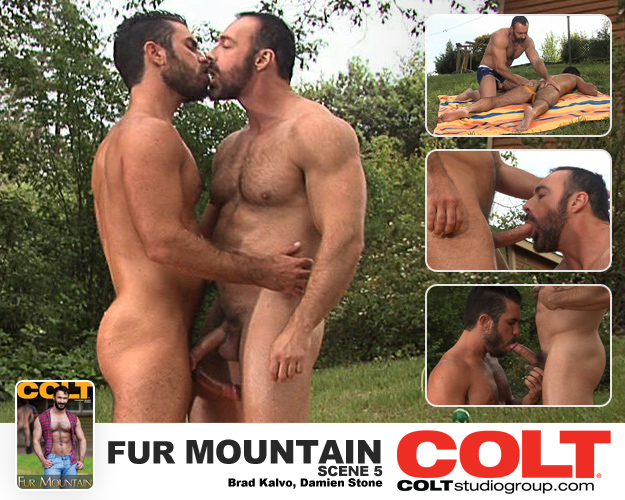 Colt Studios Fur Mountain, Scene 5 Starring Brad Kalvo and Damien Stone