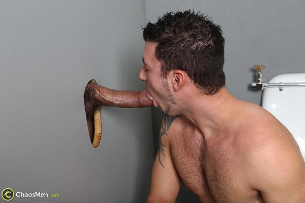 Straight men tricked gloryhole
