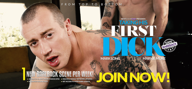 Next Door Raw Taking His First Dick Featuring Mark Long and Markie More