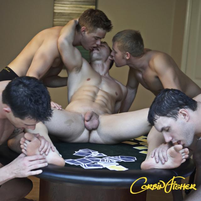 Corbin Fisher Strip Poker Featuring Cade, Connor, Dawson, Derek, Jeff