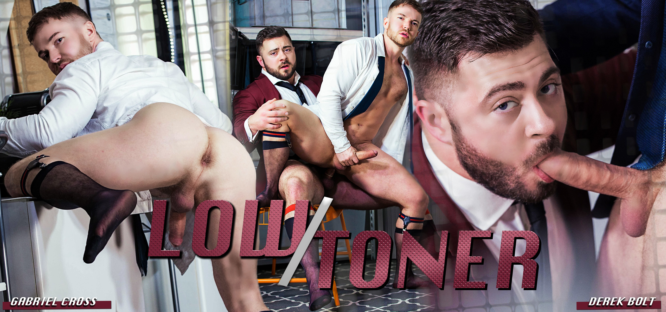 Men at Play Low Toner Starring Derek Bolt and Gabriel Cross