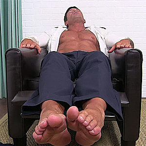 Joey Shows His Sheer Socks & Feet