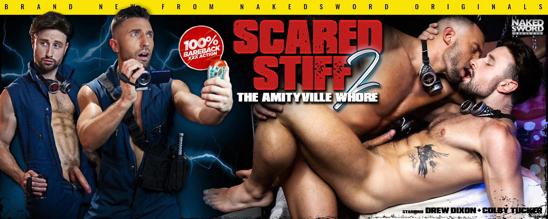 Scared Stiff 2: Amityville Whore Episode 4 Featuring Colby Tucker and Drew Dixon