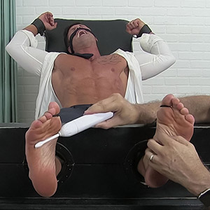 Joey Tickled In Sheer Socks