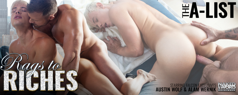 NakedSword Rags To Riches, Scene 4 Featuring Alam Wernik and Austin Wolf