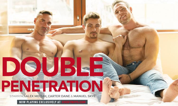 Double Penetration: Alex Mecum, Carter Dane & Manuel Skye