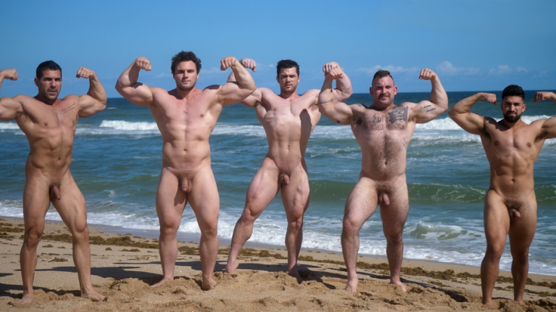 Muscle Men Nude Beach 2 Collin Simpson, Damien Stone, Jack 5, Ludvig, Nick LA