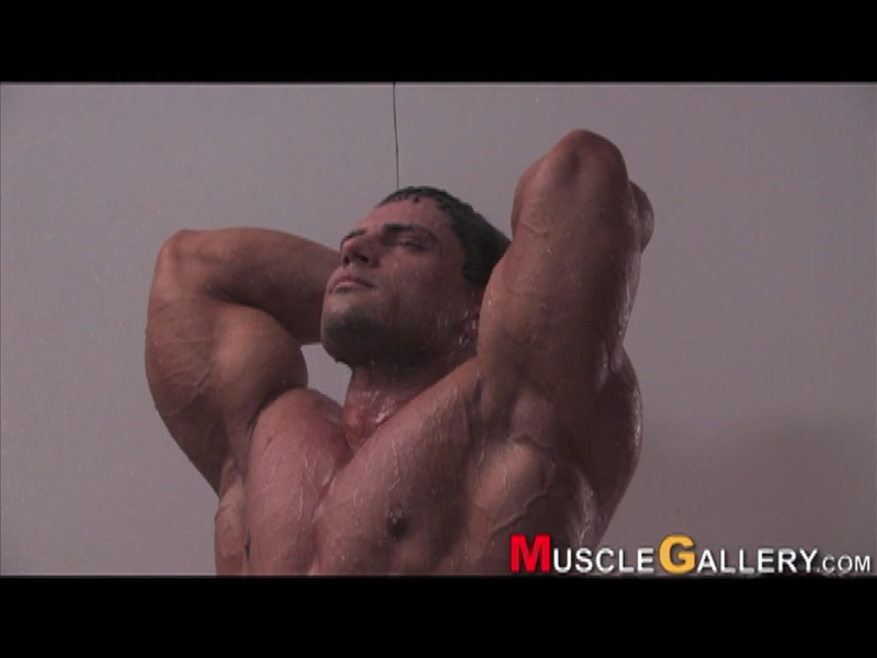 MuscleGallery Dobri Delev's Shower Scene